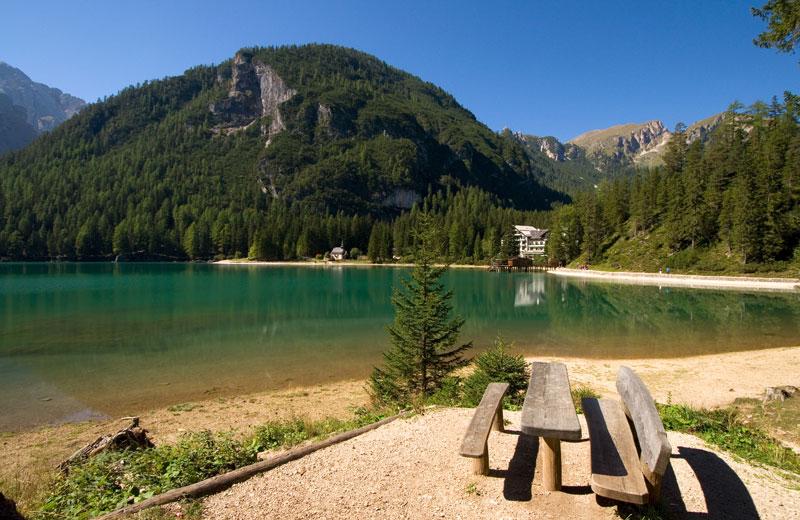 Lago Di Braies In Alta Pusteria Val Pusteria