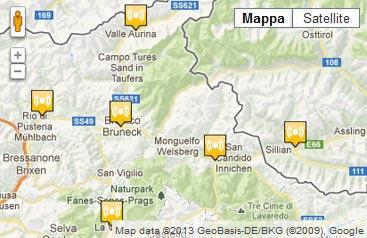 Cartina Della Val Pusteria Mappa Come Arrivare